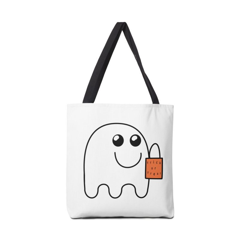 Ghost with orange Trick or Treat Bag Accessories Tote Bag Bag by Make a statement, laugh, enjoy.