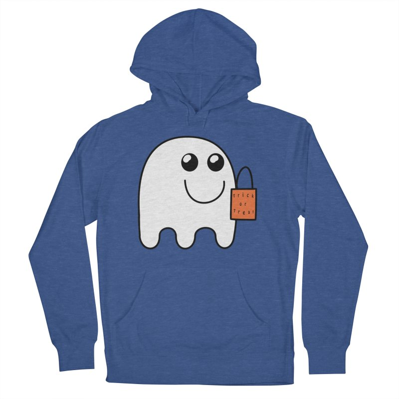 Ghost with orange Trick or Treat Bag Women's French Terry Pullover Hoody by Make a statement, laugh, enjoy.