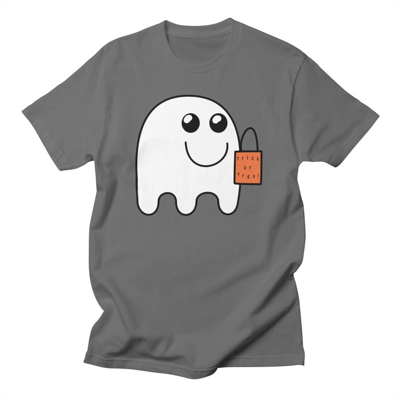 Ghost with orange Trick or Treat Bag Men's T-Shirt by Make a statement, laugh, enjoy.