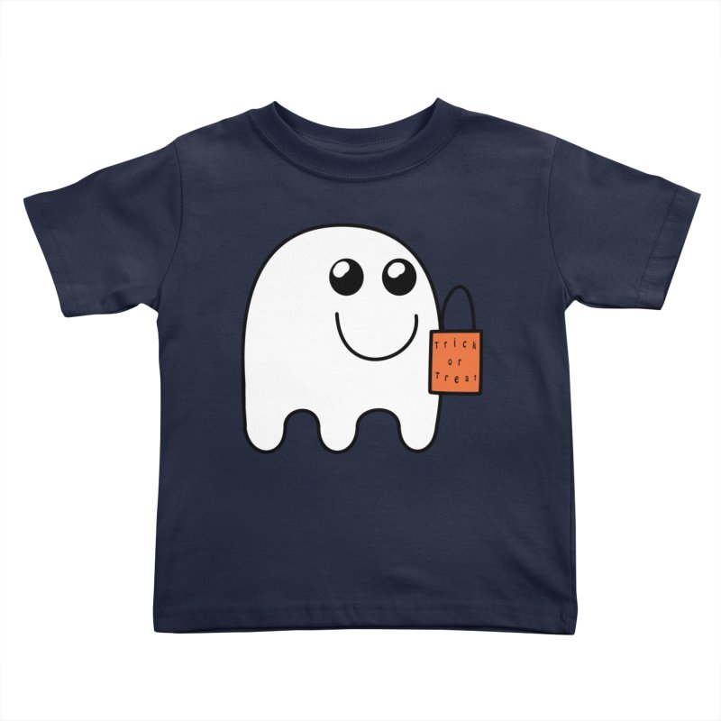 Ghost with orange Trick or Treat Bag Kids Toddler T-Shirt by Make a statement, laugh, enjoy.