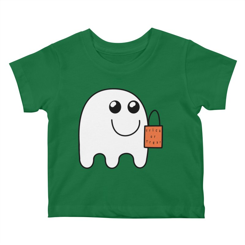 Ghost with orange Trick or Treat Bag Kids Baby T-Shirt by Make a statement, laugh, enjoy.