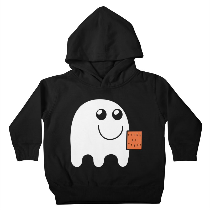 Ghost with orange Trick or Treat Bag Kids Toddler Pullover Hoody by Make a statement, laugh, enjoy.
