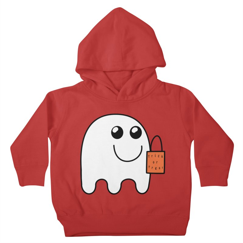 Ghost with orange Trick or Treat Bag Kids Toddler Pullover Hoody by Sporkshirts's tshirt gamer movie and design shop.