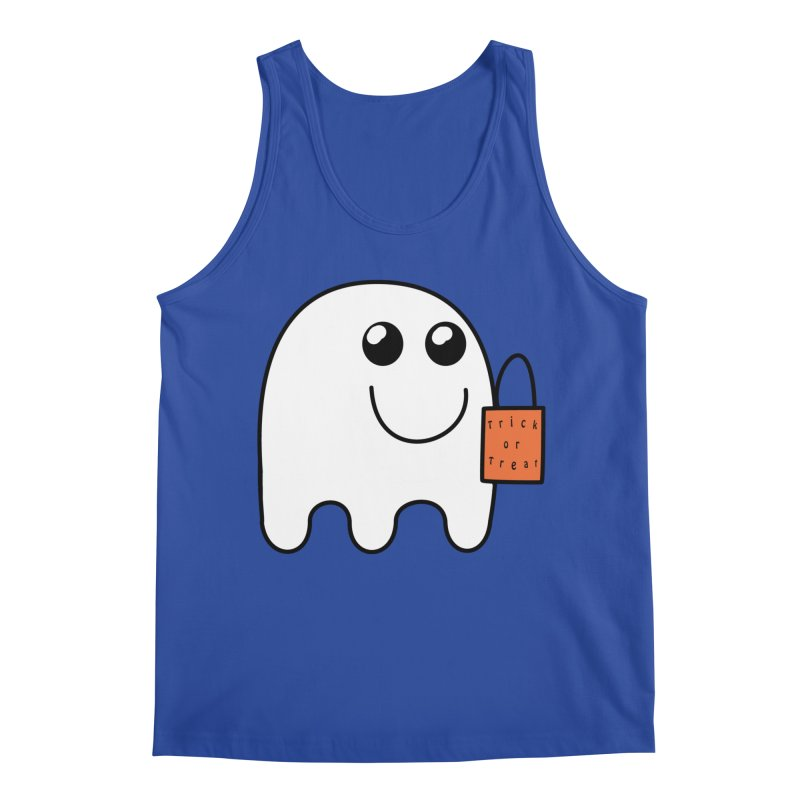 Ghost with orange Trick or Treat Bag Men's Regular Tank by Make a statement, laugh, enjoy.