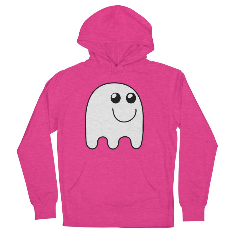 Happy Ghost Women's French Terry Pullover Hoody by Make a statement, laugh, enjoy.