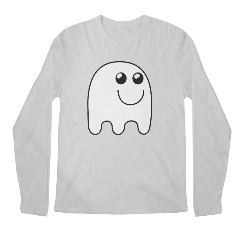Happy Ghost Men's Regular Longsleeve T-Shirt by Make a statement, laugh, enjoy.