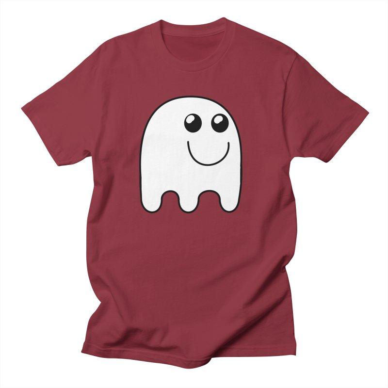 Happy Ghost Men's Regular T-Shirt by Make a statement, laugh, enjoy.