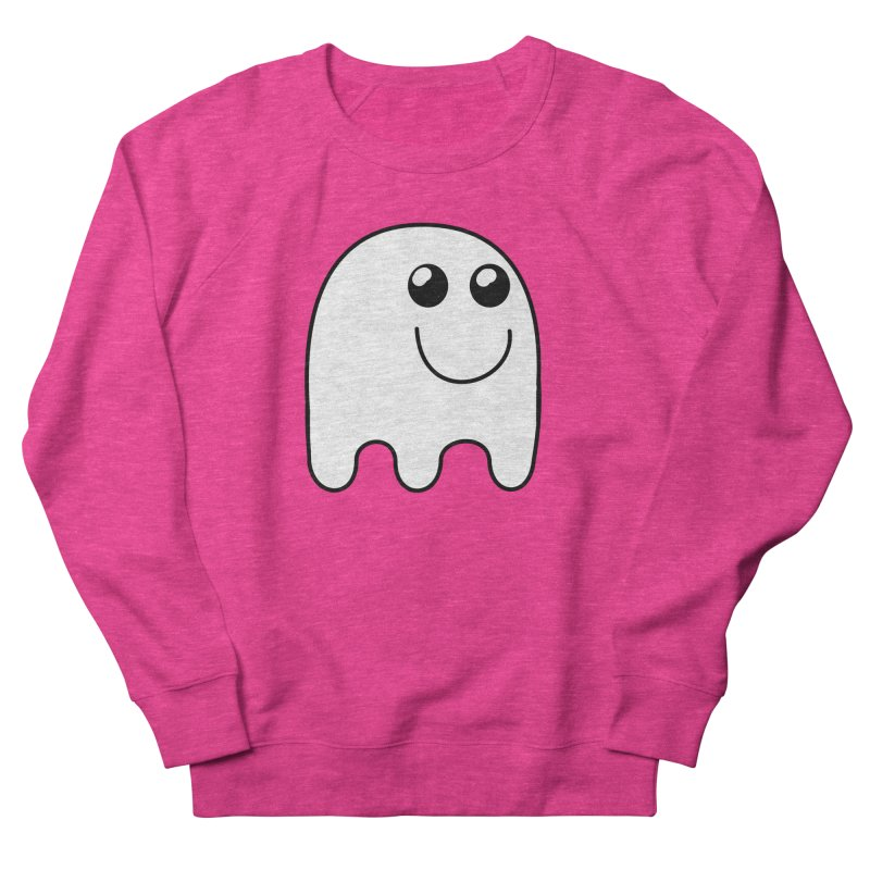 Happy Ghost Women's French Terry Sweatshirt by Make a statement, laugh, enjoy.