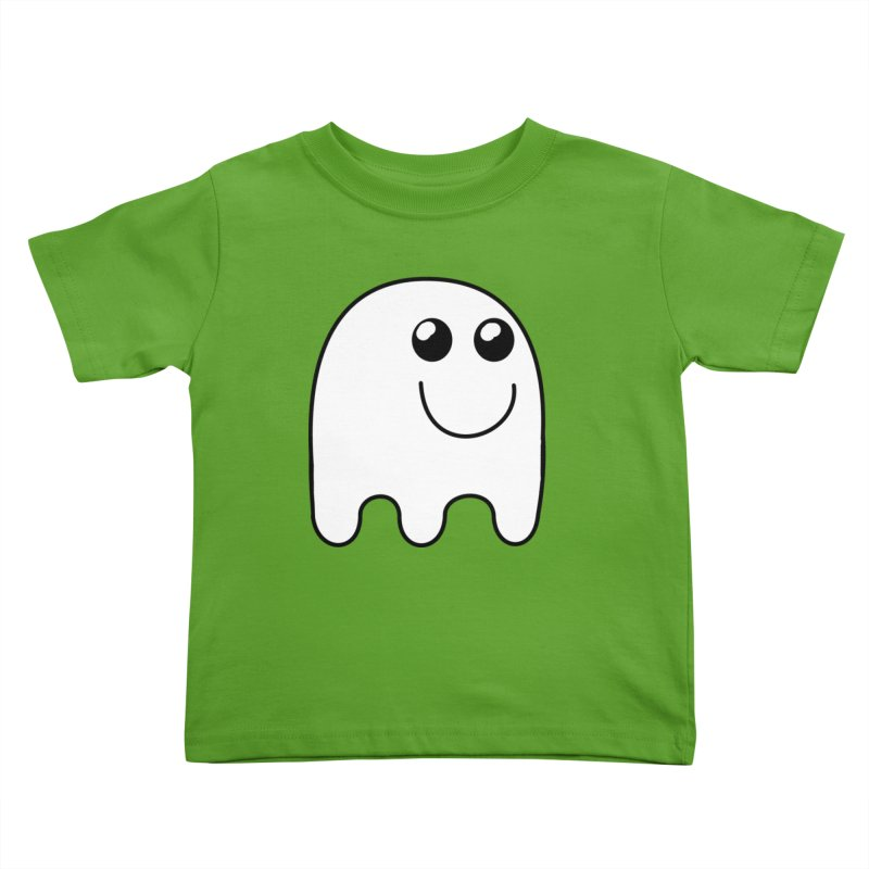 Happy Ghost Kids Toddler T-Shirt by Sporkshirts's tshirt gamer movie and design shop.