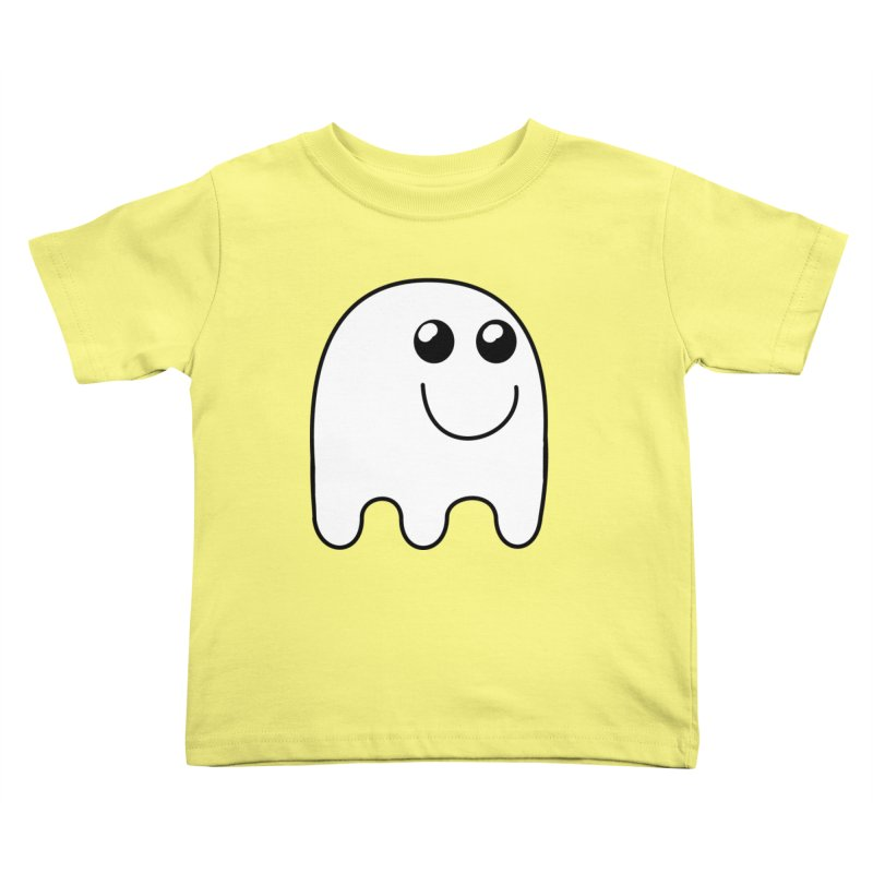 Happy Ghost Kids Toddler T-Shirt by Make a statement, laugh, enjoy.