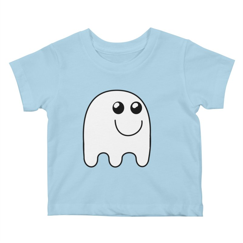 Happy Ghost Kids Baby T-Shirt by Make a statement, laugh, enjoy.