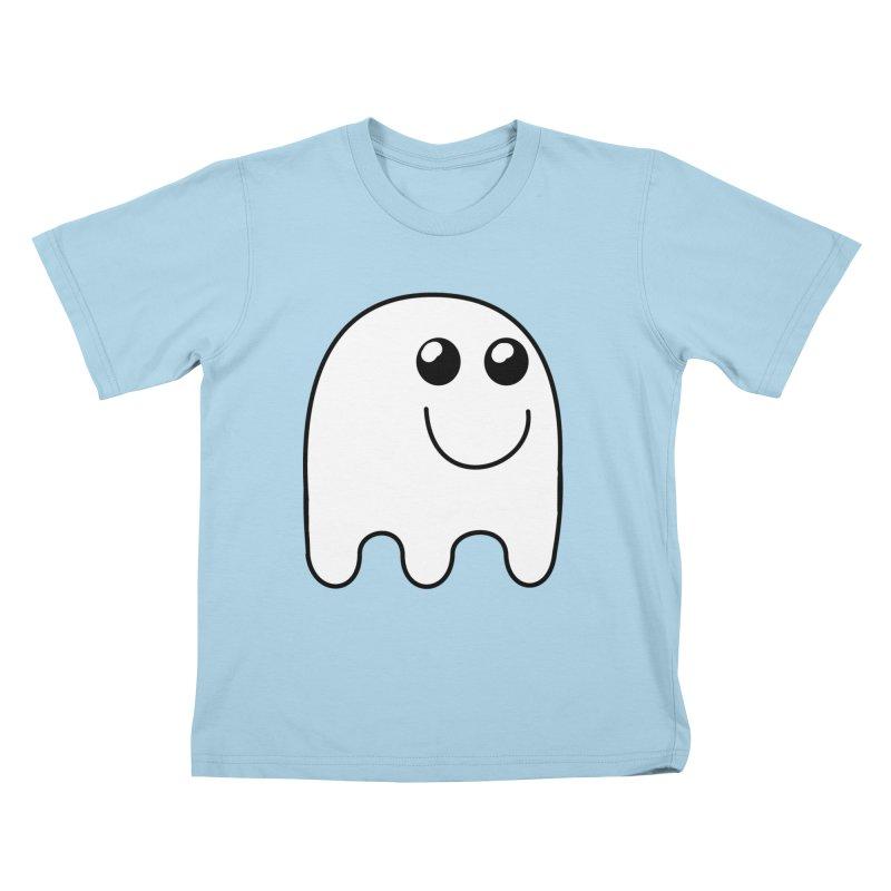 Happy Ghost Kids T-Shirt by Sporkshirts's tshirt gamer movie and design shop.