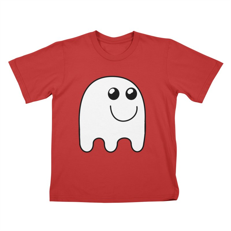 Happy Ghost Kids T-Shirt by Make a statement, laugh, enjoy.