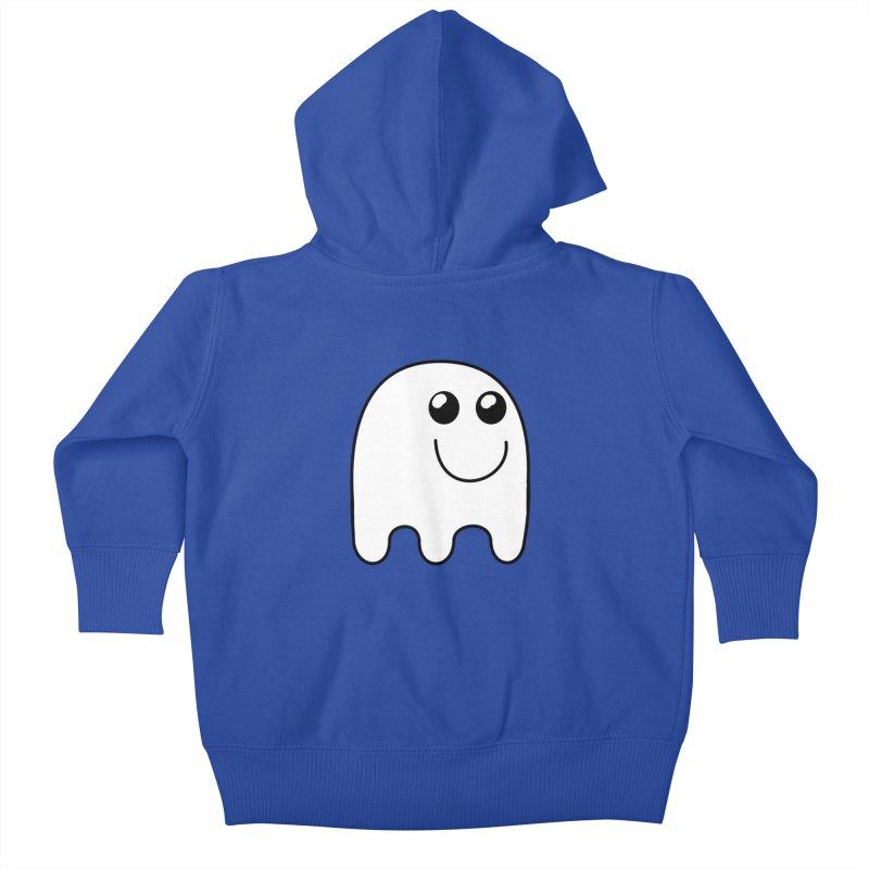 Happy Ghost Kids Baby Zip-Up Hoody by Sporkshirts's tshirt gamer movie and design shop.