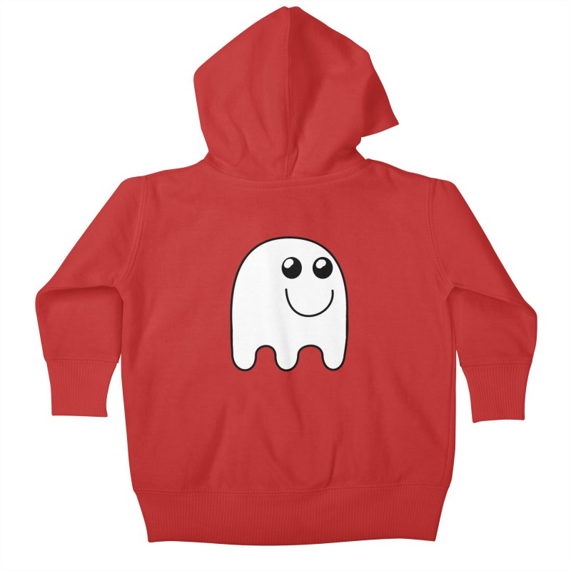 Happy Ghost Kids Baby Zip-Up Hoody by Make a statement, laugh, enjoy.