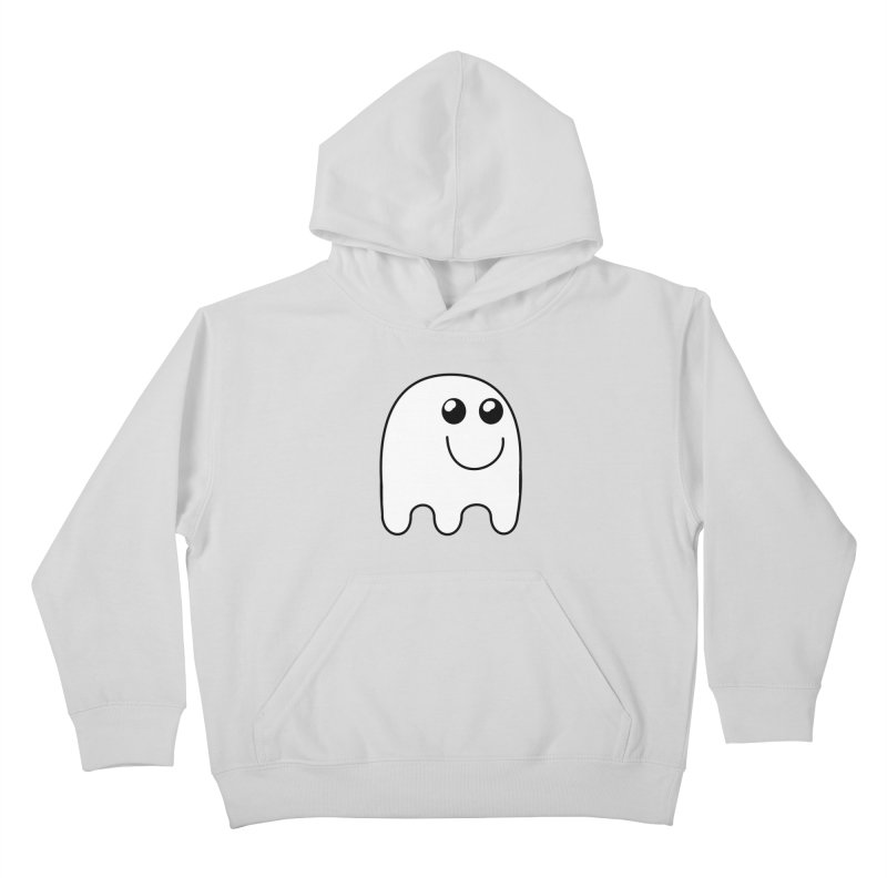 Happy Ghost Kids Pullover Hoody by Make a statement, laugh, enjoy.