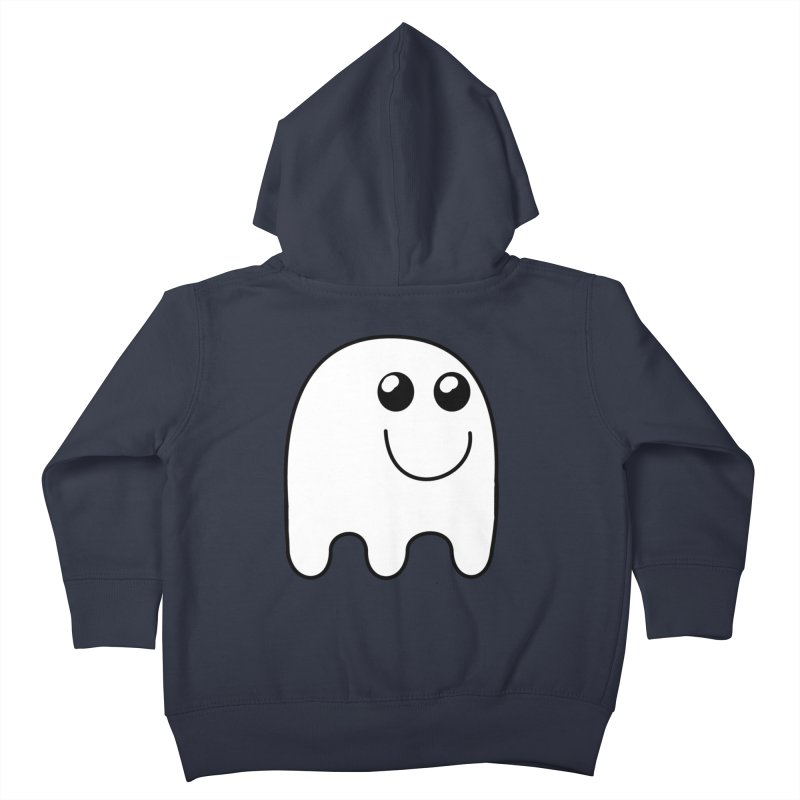 Happy Ghost Kids Toddler Zip-Up Hoody by Sporkshirts's tshirt gamer movie and design shop.