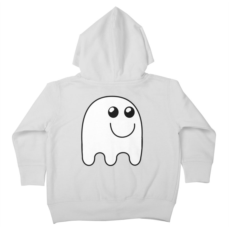 Happy Ghost Kids Toddler Zip-Up Hoody by Make a statement, laugh, enjoy.