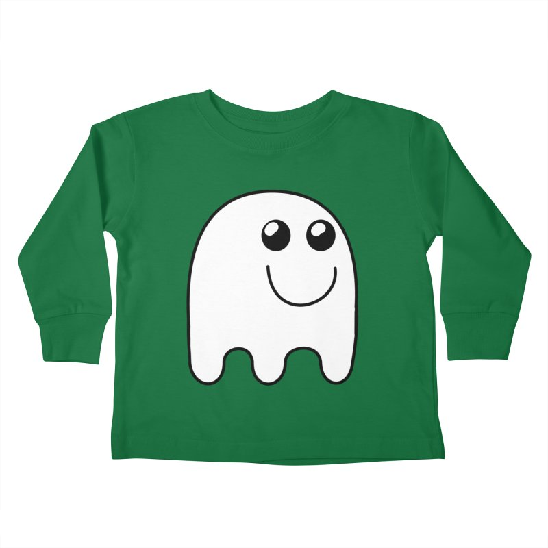 Happy Ghost Kids Toddler Longsleeve T-Shirt by Sporkshirts's tshirt gamer movie and design shop.