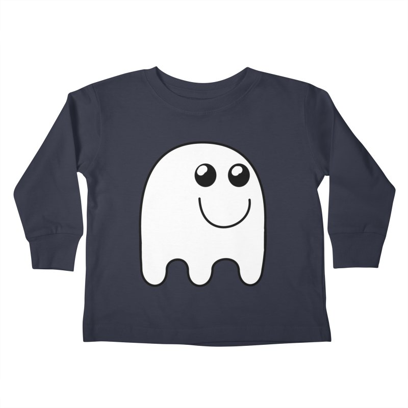 Happy Ghost Kids Toddler Longsleeve T-Shirt by Make a statement, laugh, enjoy.