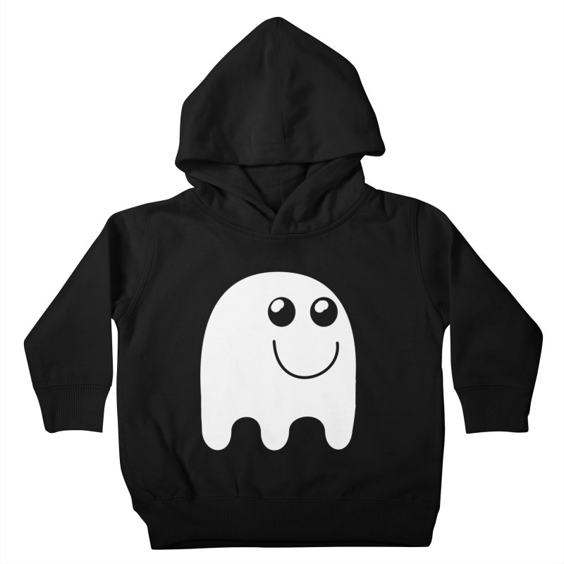 Happy Ghost Kids Toddler Pullover Hoody by Make a statement, laugh, enjoy.
