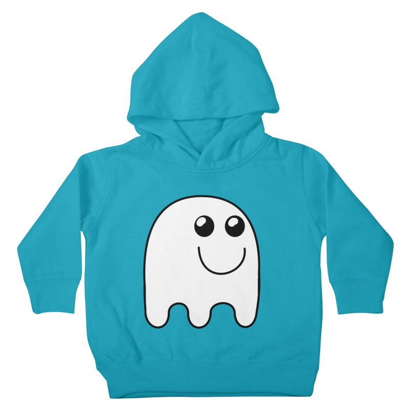 Happy Ghost Kids Toddler Pullover Hoody by Sporkshirts's tshirt gamer movie and design shop.
