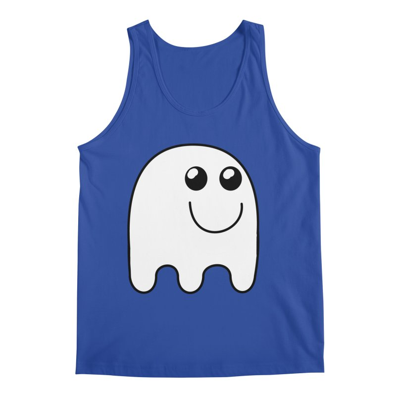 Happy Ghost Men's Regular Tank by Make a statement, laugh, enjoy.
