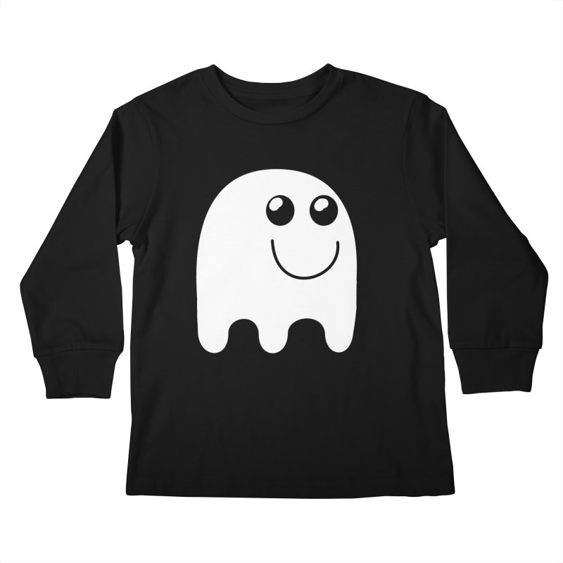 Happy Ghost Kids Longsleeve T-Shirt by Make a statement, laugh, enjoy.