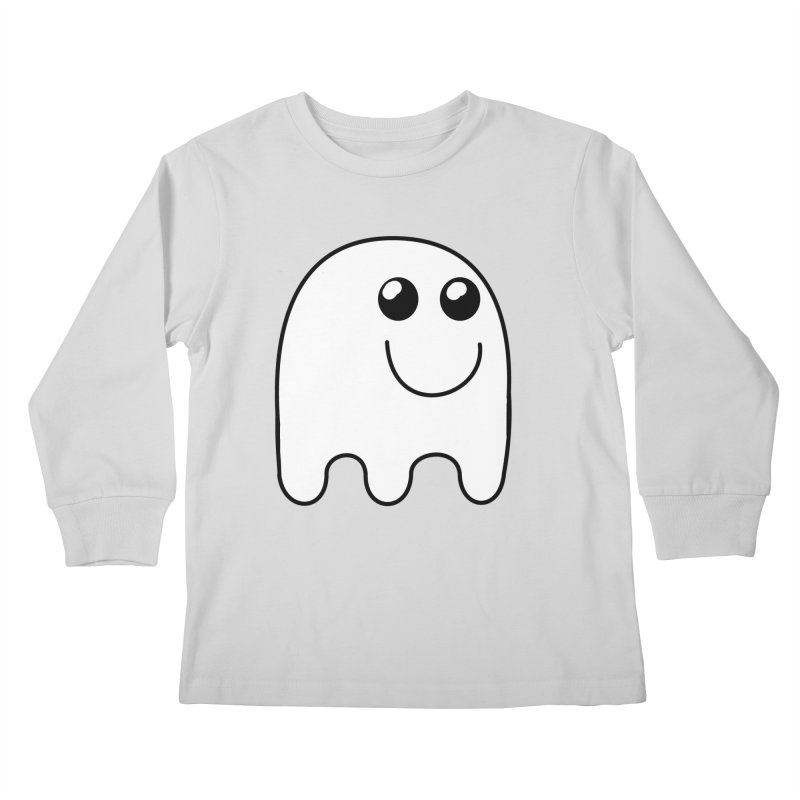 Happy Ghost Kids Longsleeve T-Shirt by Sporkshirts's tshirt gamer movie and design shop.
