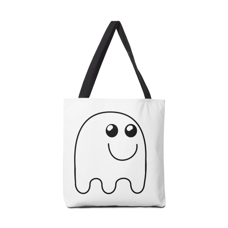 Happy Ghost Accessories Tote Bag Bag by Make a statement, laugh, enjoy.
