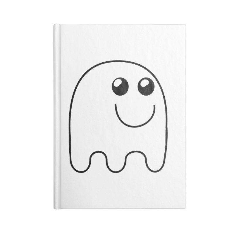 Happy Ghost Accessories Blank Journal Notebook by Make a statement, laugh, enjoy.