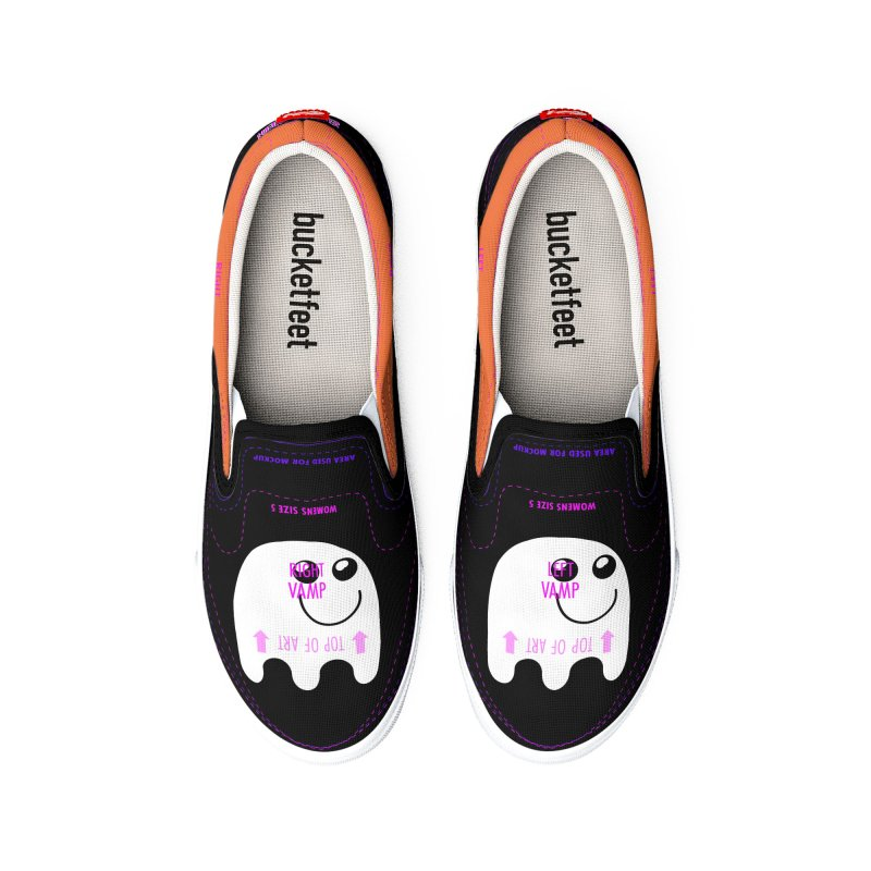Happy Ghost Men's Shoes by Make a statement, laugh, enjoy.