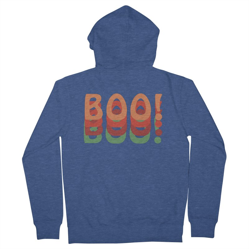 Boo! Men's French Terry Zip-Up Hoody by Make a statement, laugh, enjoy.