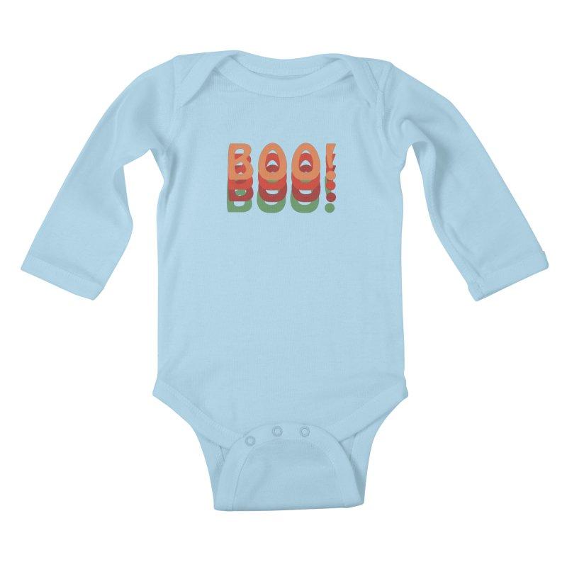 Boo! Kids Baby Longsleeve Bodysuit by Make a statement, laugh, enjoy.