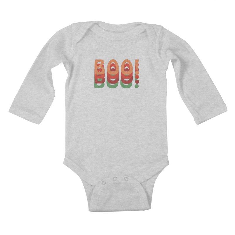 Boo! Kids Baby Longsleeve Bodysuit by Sporkshirts's tshirt gamer movie and design shop.