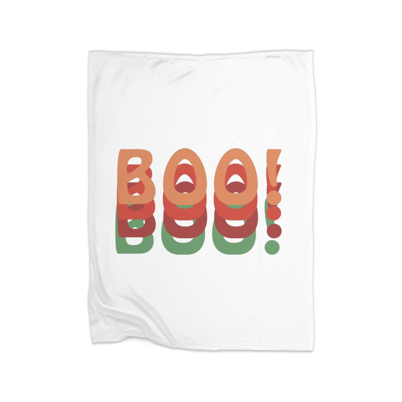 Boo! Home Fleece Blanket Blanket by Sporkshirts's tshirt gamer movie and design shop.