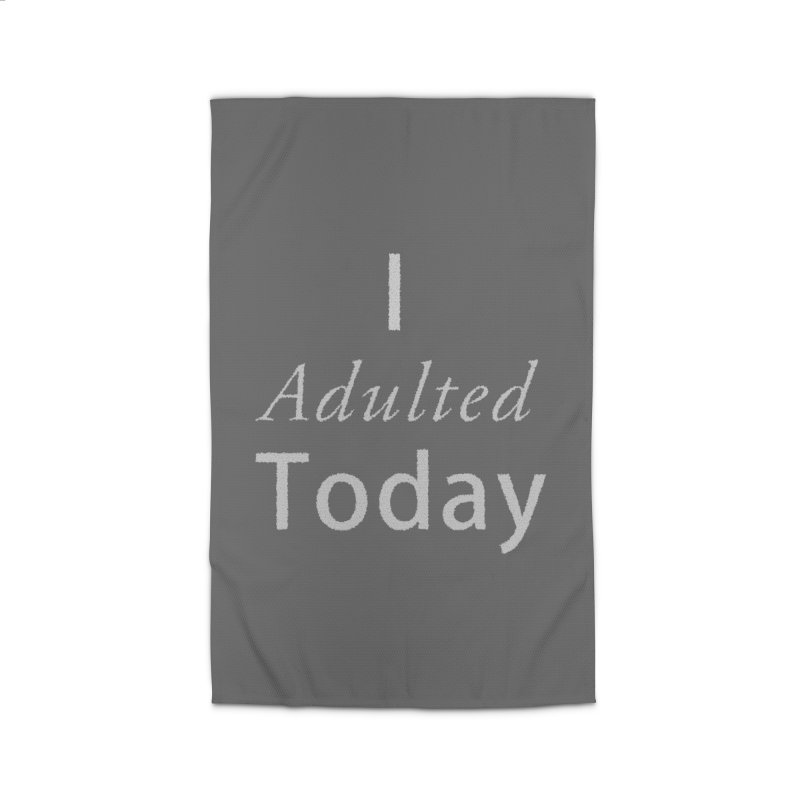 I adulted today Home Rug by Sporkshirts's tshirt gamer movie and design shop.