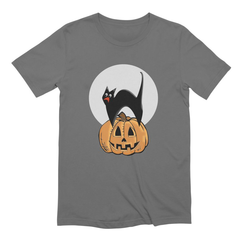 Halloween cat Men's T-Shirt by Make a statement, laugh, enjoy.