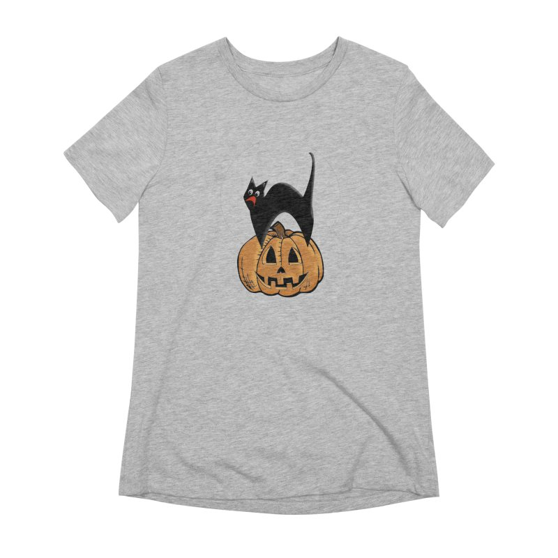 Halloween cat Women's Extra Soft T-Shirt by Make a statement, laugh, enjoy.