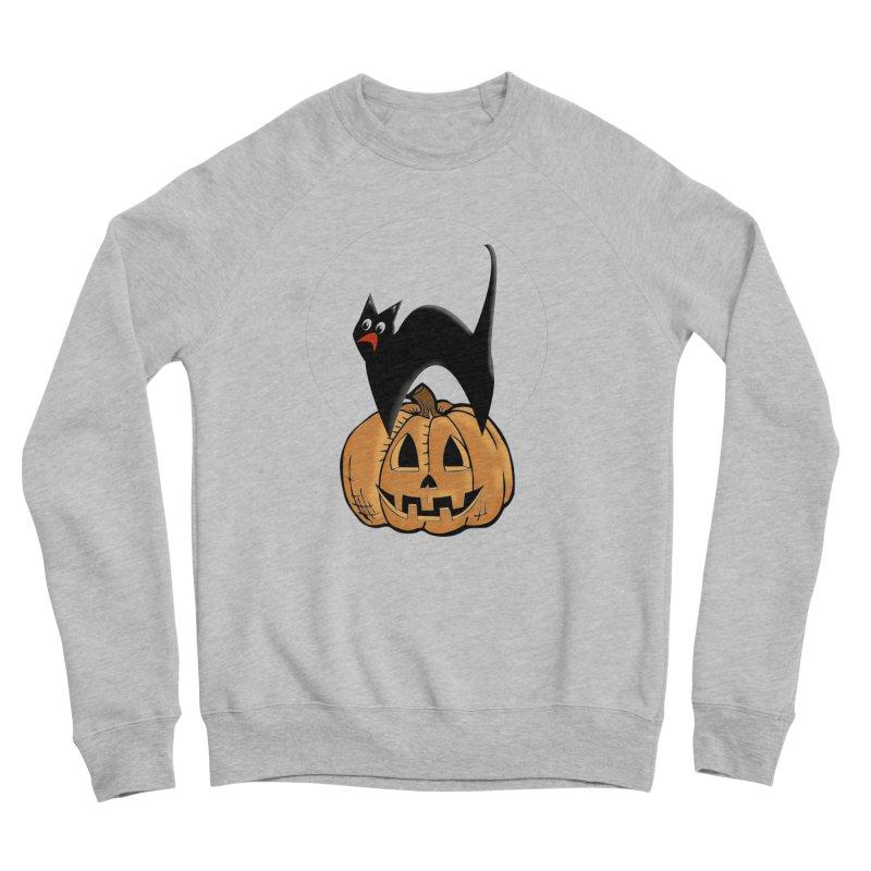Halloween cat Women's Sponge Fleece Sweatshirt by Make a statement, laugh, enjoy.
