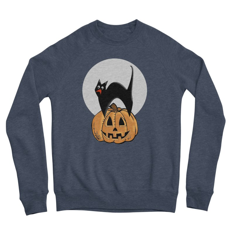 Halloween cat Women's Sponge Fleece Sweatshirt by Make a statement, laugh, enjoy.