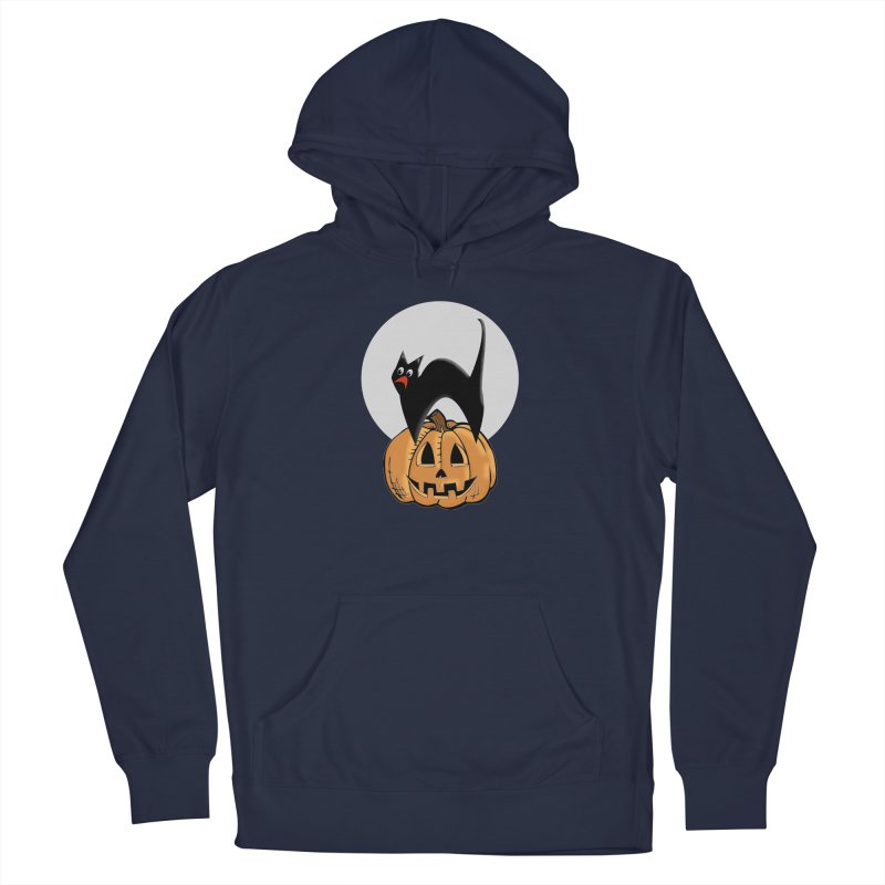 Halloween cat Men's Pullover Hoody by Make a statement, laugh, enjoy.