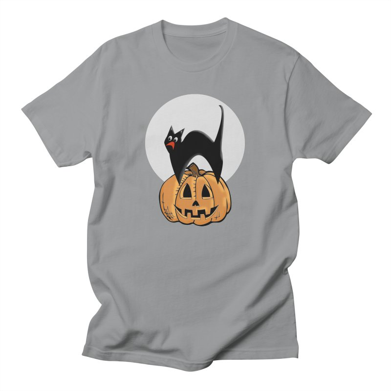 Halloween cat Women's Regular Unisex T-Shirt by Make a statement, laugh, enjoy.