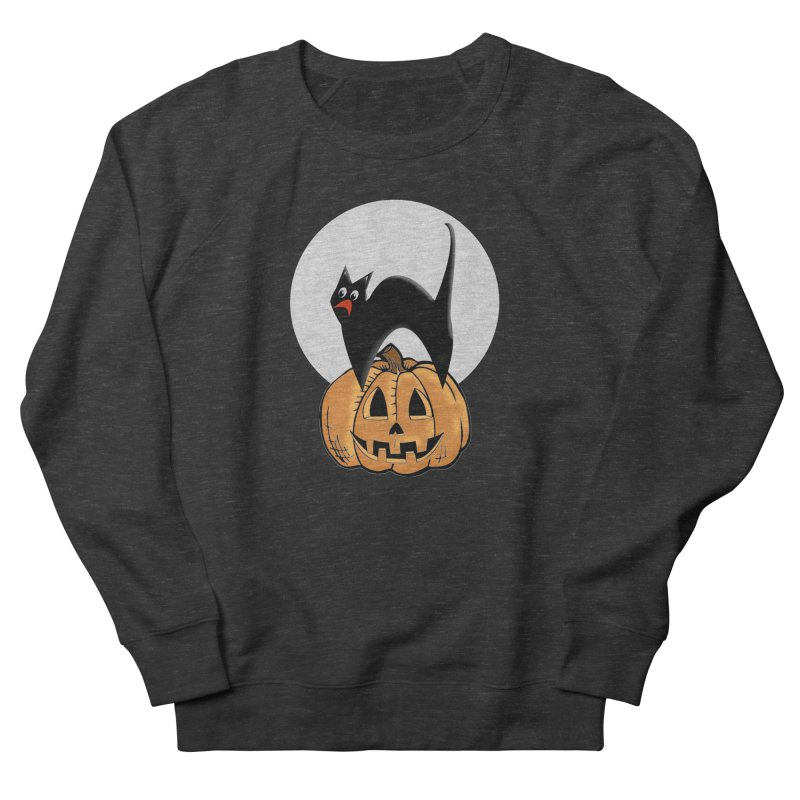 Halloween cat Women's French Terry Sweatshirt by Make a statement, laugh, enjoy.