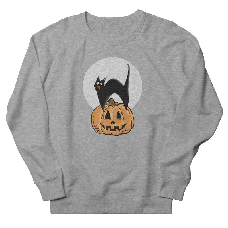 Halloween cat Women's French Terry Sweatshirt by Make a statement, laugh, enjoy.