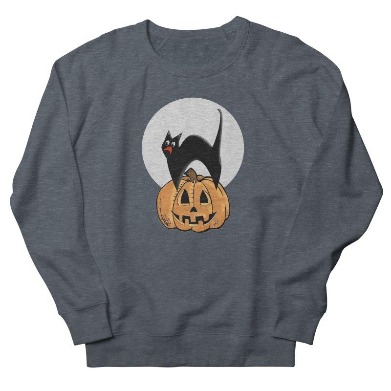 Halloween cat Men's French Terry Sweatshirt by Make a statement, laugh, enjoy.