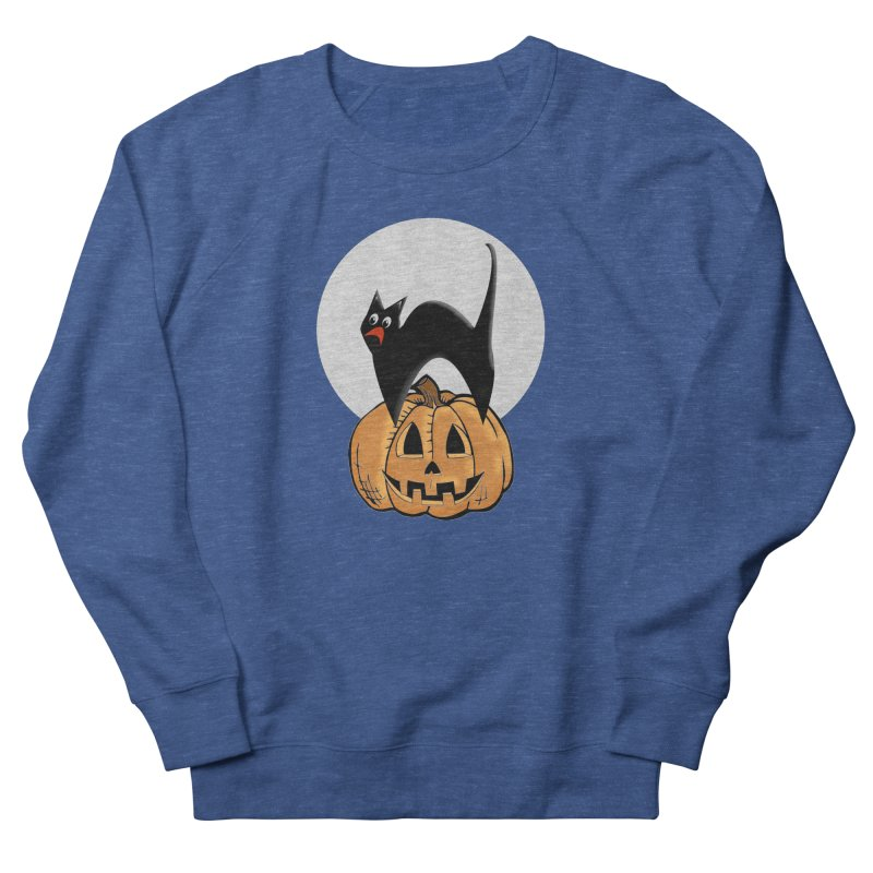 Halloween cat Men's Sweatshirt by Make a statement, laugh, enjoy.