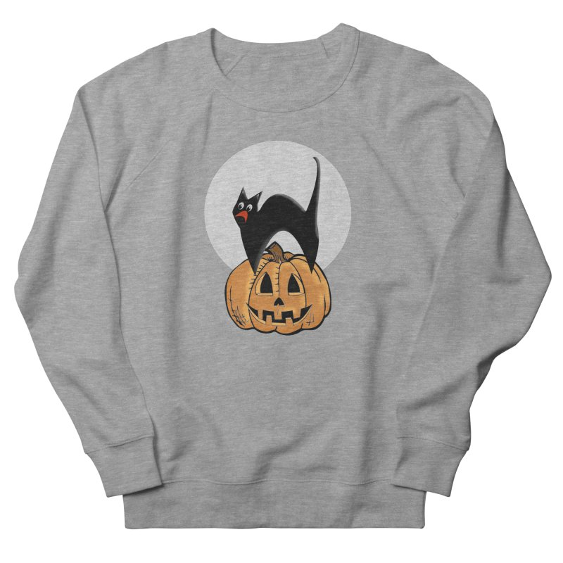 Halloween cat Men's French Terry Sweatshirt by Make a statement, laugh, enjoy.