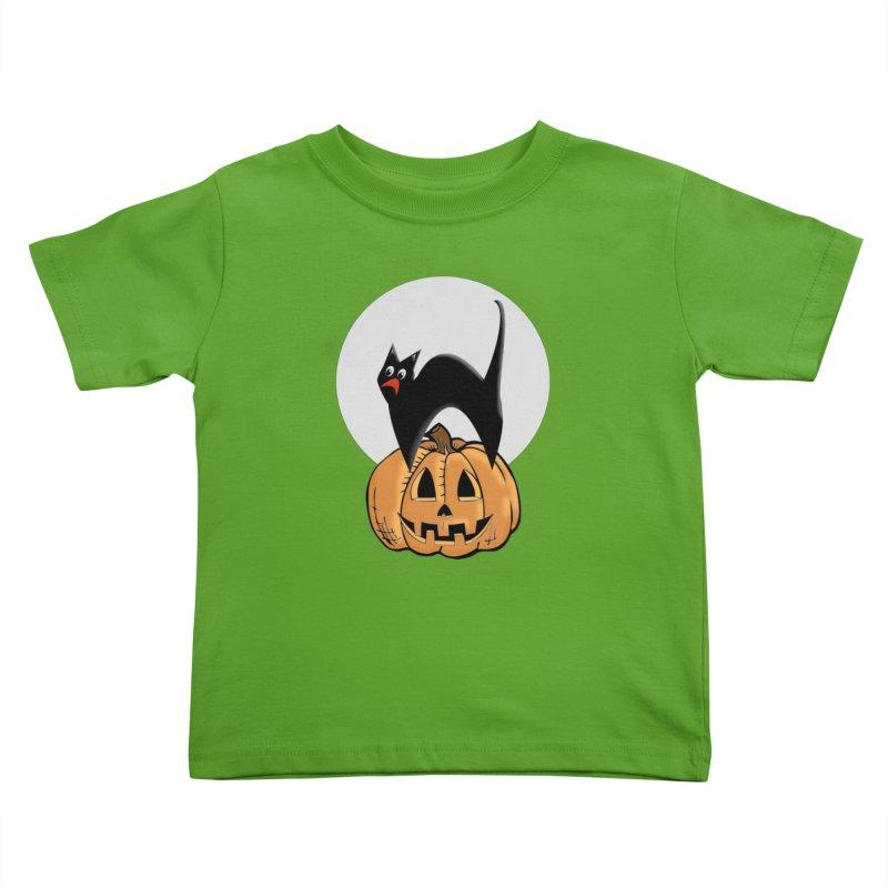 Halloween cat Kids Toddler T-Shirt by Make a statement, laugh, enjoy.