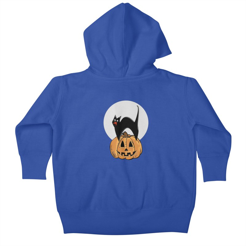 Halloween cat Kids Baby Zip-Up Hoody by Make a statement, laugh, enjoy.
